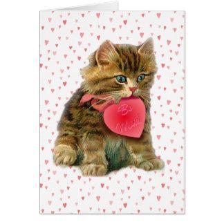 KITTEN & HEARTS by SHARON SHARPE Card