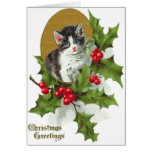 Kitten Holly Cards