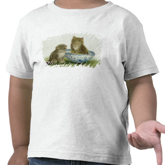 Kitten in a Blue China Bowl T-shirts