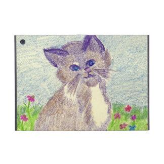 kitten in crayon iPad mini covers
