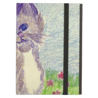 kitten in crayon iPad folio cases