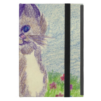 kitten in crayon iPad mini case