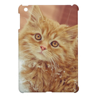 Kitten in Snow iPad Mini Covers