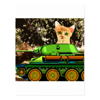 Kitten in the tank postcard