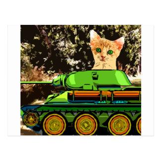 Kitten in the tank postcard
