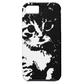 Kitten Looks In Wonder Abstract iPhone 5 Case