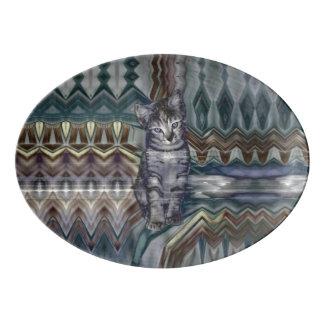 Kitten Matrix 50 Shades of Grey Porcelain Serving Platter