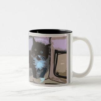kitten mug! Two-Tone coffee mug