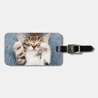 Kitten On My Lap Luggage Tag