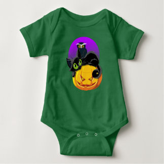 Kitten & Owl Baby Jersey Bodysuit
