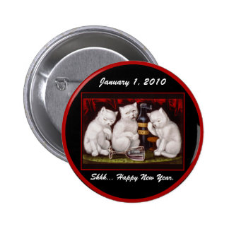 Kitten Party New Year s Day - Button 2