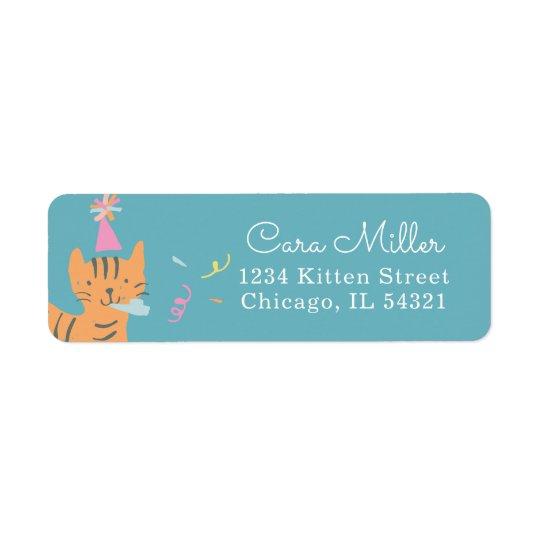 Kitten Party Return Address Label