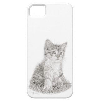 Kitten Phone case, cat art, kitten drawing iPhone 5 Cases