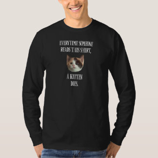 Kitten Shirt - Mens Long Sleeve Dark