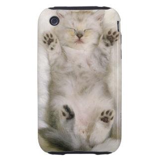 Kitten Sleeping on a White Fluffy Carpet, High iPhone 3 Tough Cases