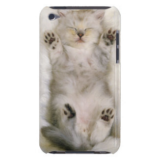 Kitten Sleeping on a White Fluffy Carpet, High iPod Touch Cases