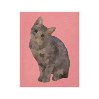 Kitten Triangulation on Canvas