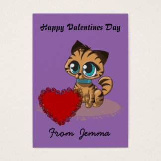 Kitten Valentines Day Cards to hand out for Kids