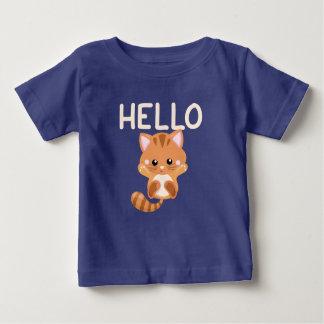 Kitten Waving Hello Baby T-Shirt