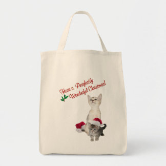 Kitten Wishes For A Purrfectly Wonderful Christmas Grocery Tote Bag