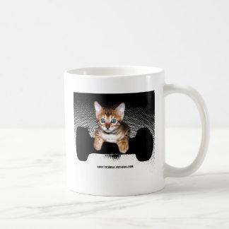 kitten with dumbbell jp BW jpg Mug