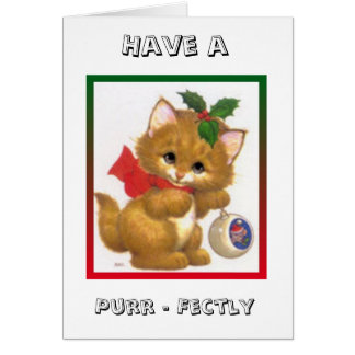 Kitten with Love Christmas Greeting Card