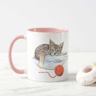 Kitten with String Sketch Mug