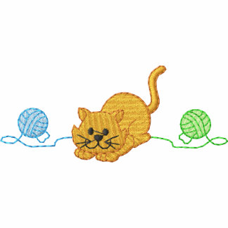 Kitten/ Yarn Embroidered Hoodie