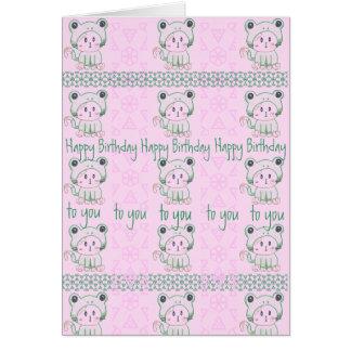 Kittenfrog Birthday card