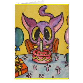 Kitten's Birthday Greeting Card