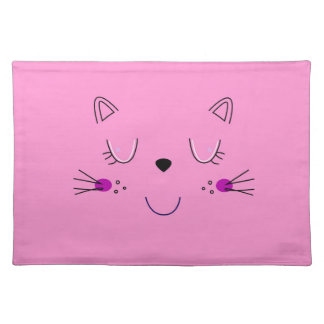 Kittens cute pink placemat