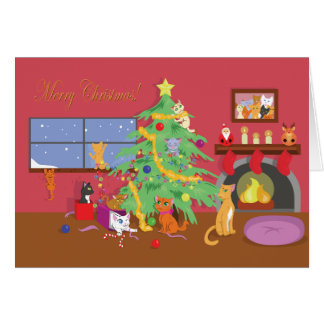 Kittens' First Christmas Card