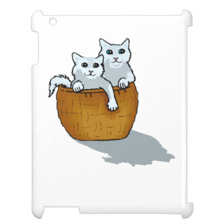 Kittens In Basket iPad Cover