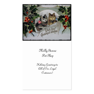Kittens in Holly Christmas Pack Of Standard Business Cards