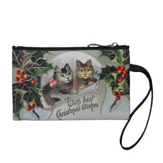 Kittens in Holly Christmas Coin Wallet