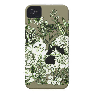 Kittens in the Wildflowers iPhone 4 Case-Mate Cases
