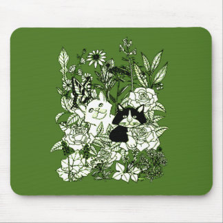 Kittens in the Wildflowers Mouse Pad