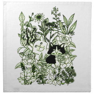 Kittens in the Wildflowers Napkin