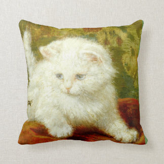 Kittens in White Classic Accent Pillow