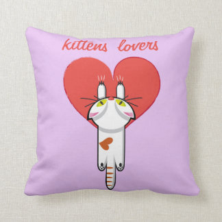 Kittens Lovers Throw Pillow