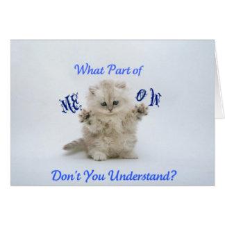 Kittens Meow Attitude Card