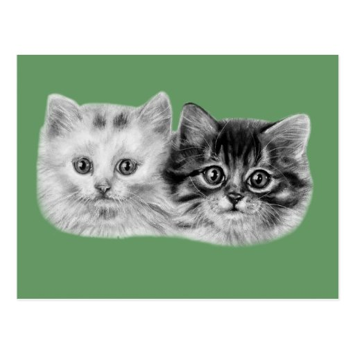 Kittens Painting Postcard