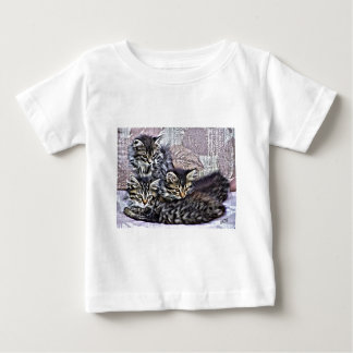 Kittens relaxing on a chair baby T-Shirt