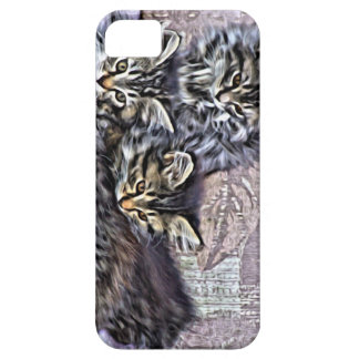 Kittens relaxing on a chair barely there iPhone 5 case