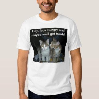Kittens scamming treats tshirts