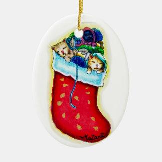 Kittens' Stocking Ornament
