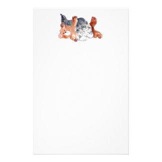 Kitten's Teddy Bear Pillow Personalized Stationery