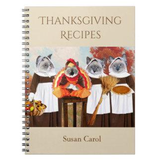 Kittens Thanksgiving Recipe Notebook