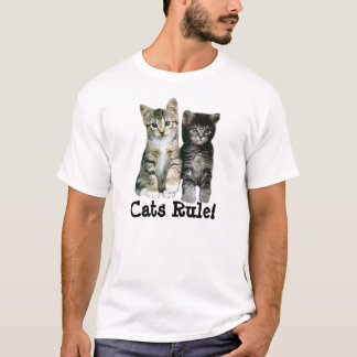 Kittens Unisex T-Shirt Cats Rule!
