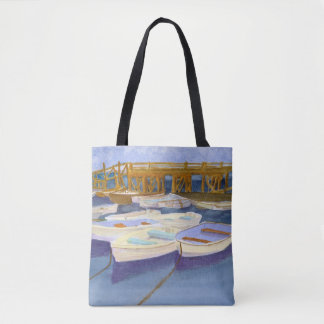 KITTERY POINT MAINE BOAT DOCKS TOTE BAG